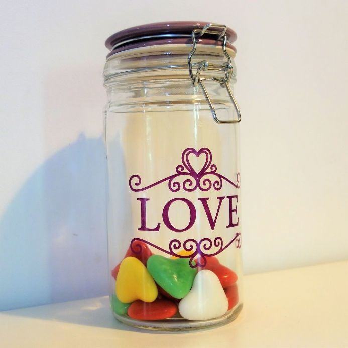 50% off Large Kilner Storage Jar with Love text